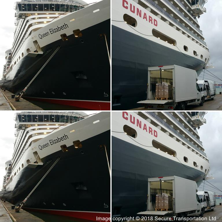 Secure Transportation Ltd cruise ship deliveries at Southampton