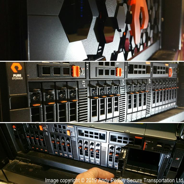 Pure Storage re rack from one DC to another by Secure Transportation Ltd