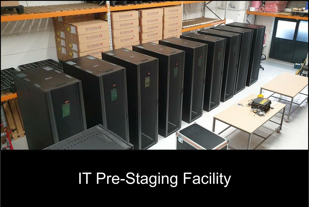 Secure Transportation's IT pre-staging warehouse is located just 4 miles from London Heathrow Airport